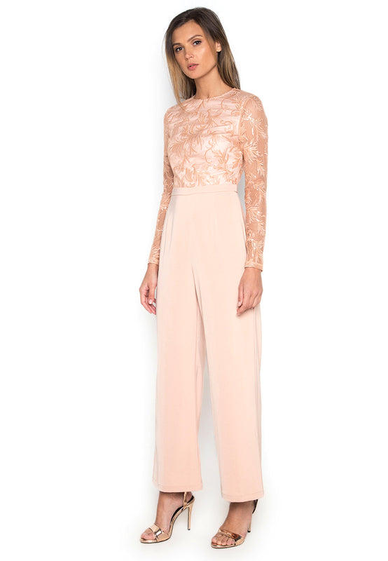 Applicated Elegant Jumpsuit leftside