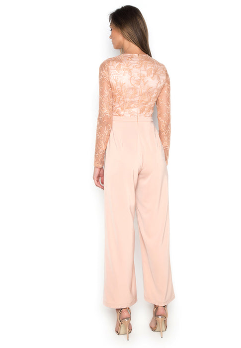 Applicated Elegant Jumpsuit backside