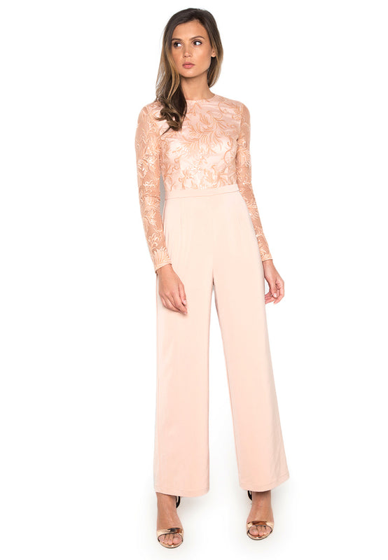 Applicated Elegant Jumpsuit rightside