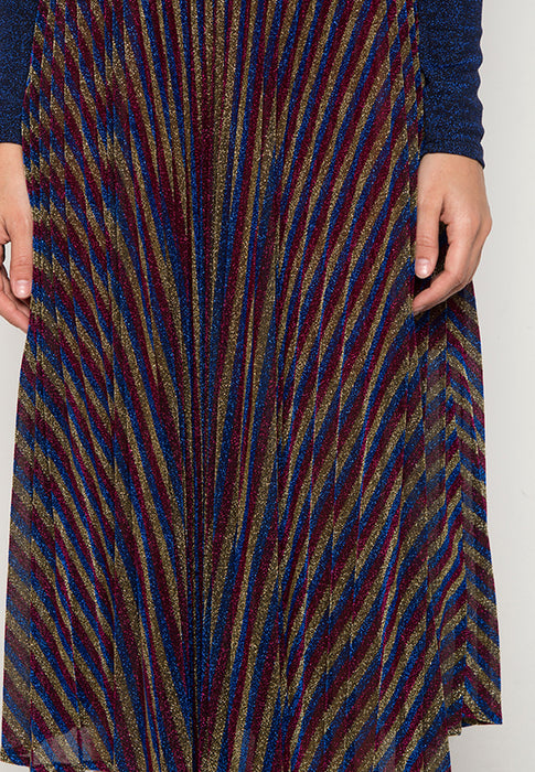 Multicolored Diva Pleated Skirt