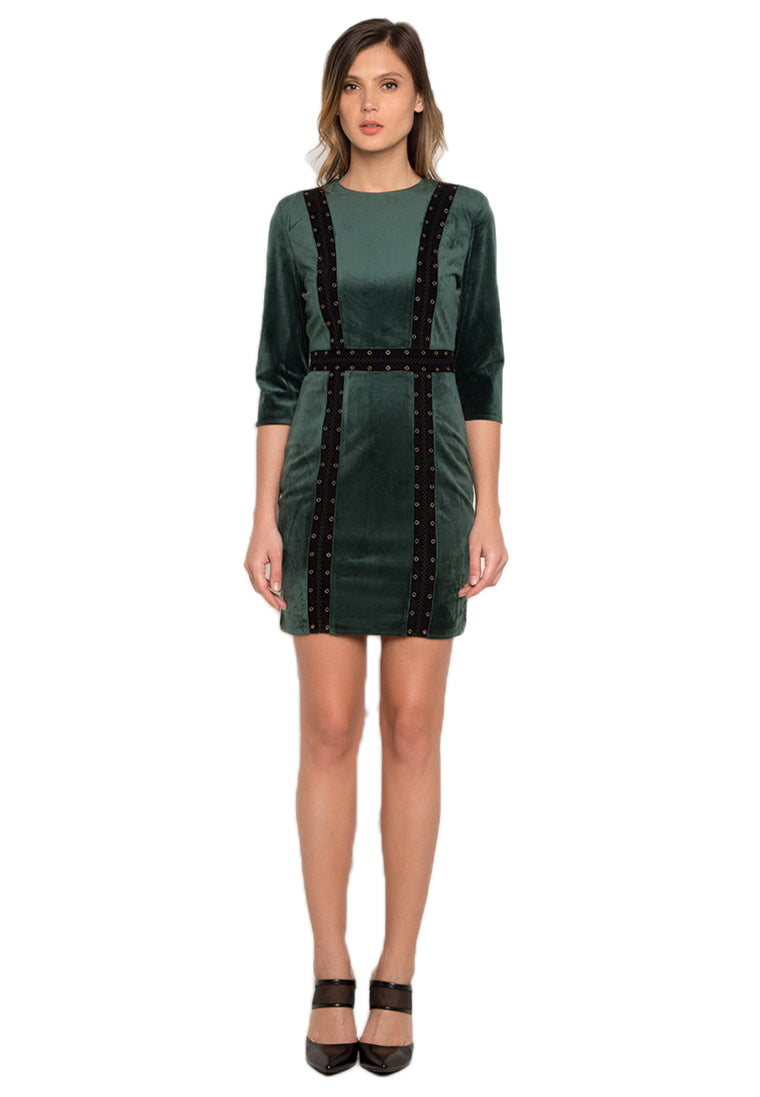 Forest Green Eyelet Dress