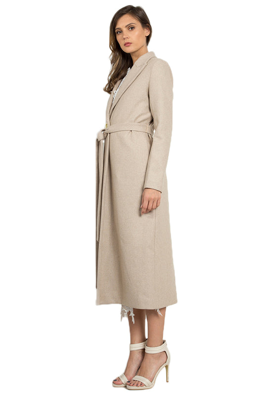 Long Wollen Coat leftside