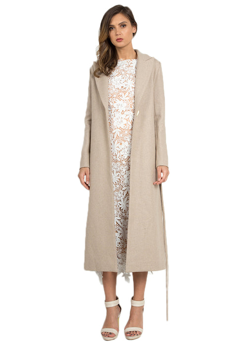 Long Wollen Coat front open