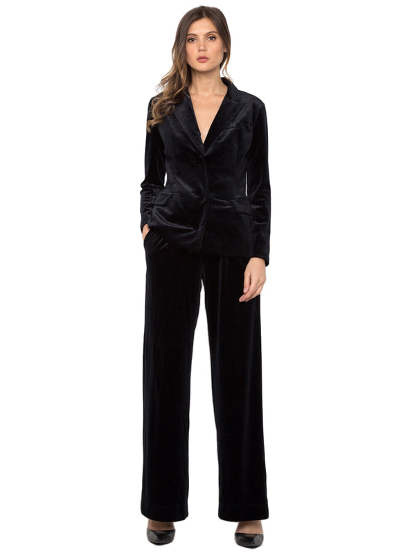 Velvet Suit Set (Black)