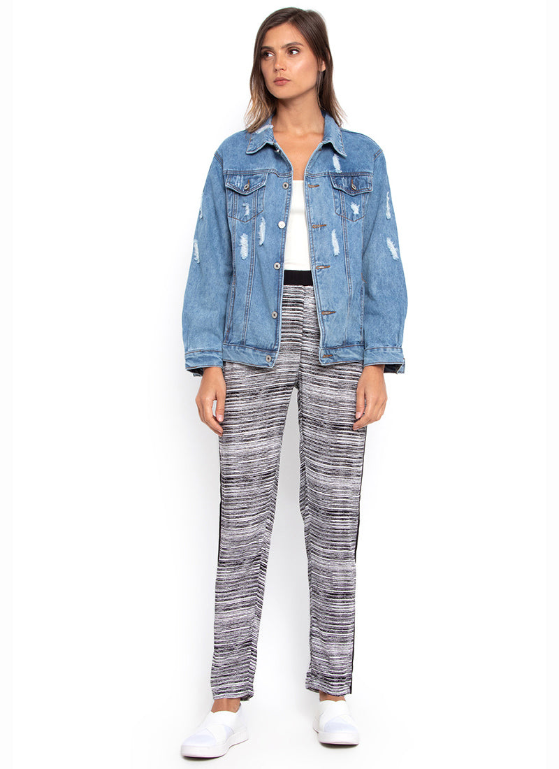 Charlie Contrast Casual Pants