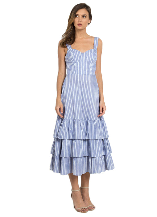 Hamptons Tiered Summer Dress (Powder Blue)