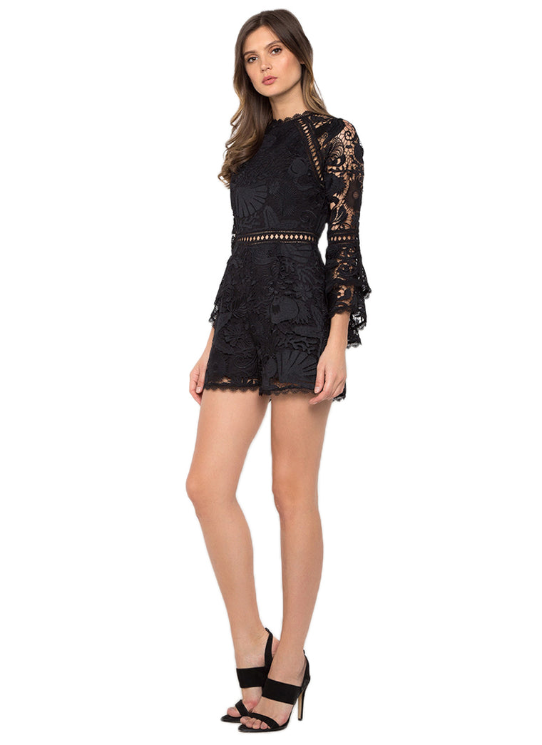 Black Lace Missy Playsuit