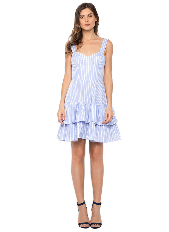 Hamptons Mid Length Summer Dress (Powder Blue)