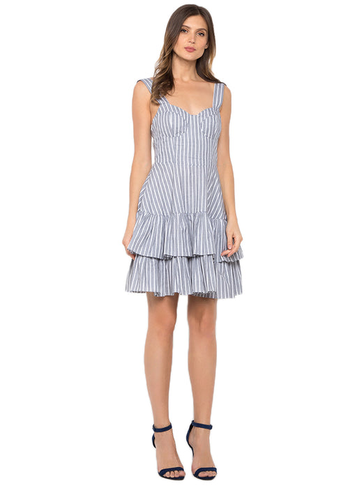 Hamptons Mid Length Summer Dress (Heather Gray)