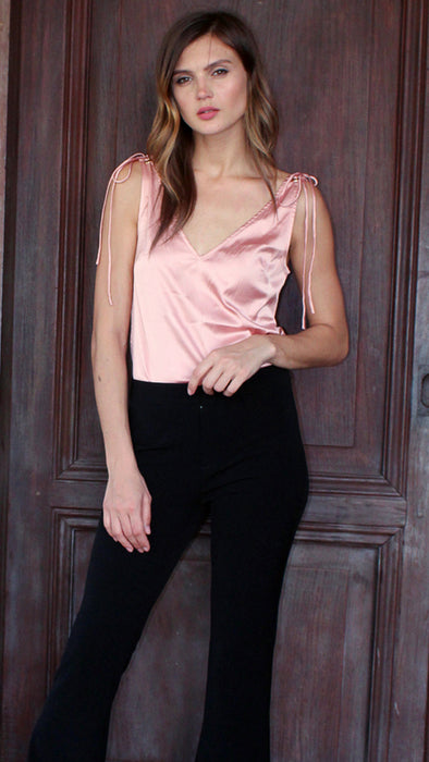V Neck Satin Top outdoor toponly
