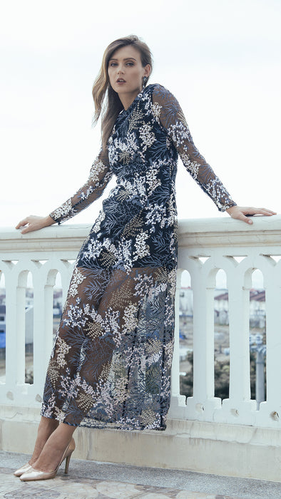 Embroidery Illusion Dress outdoor