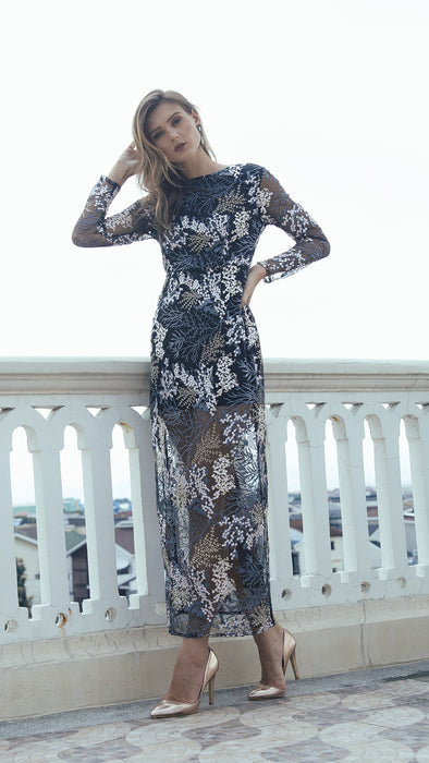 Embroidery Illusion Dress outdoor frontside