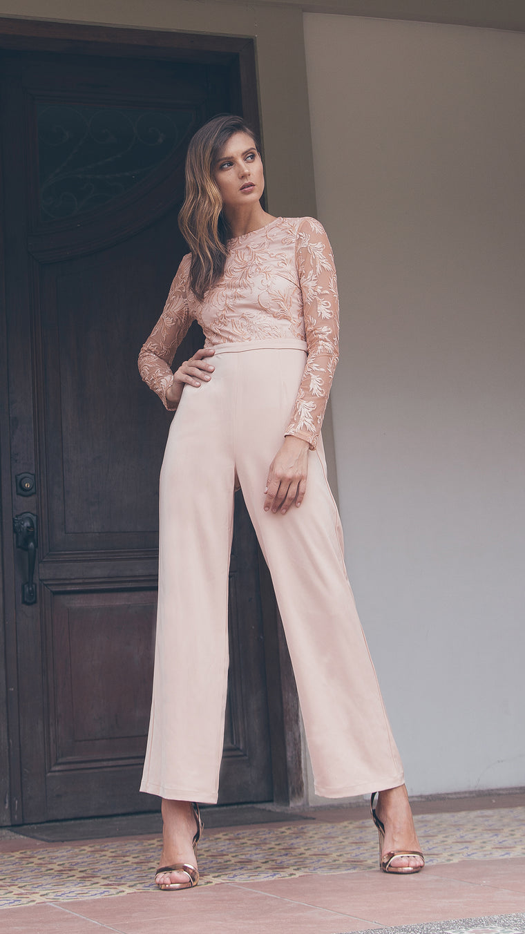 Applicated Elegant Jumpsuit outdoor fabulous