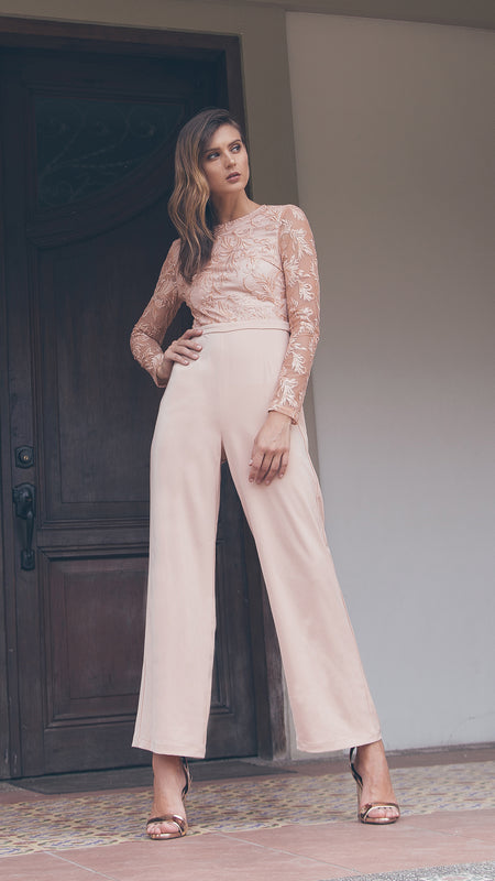 Applicated Elegant Jumpsuit outdoor