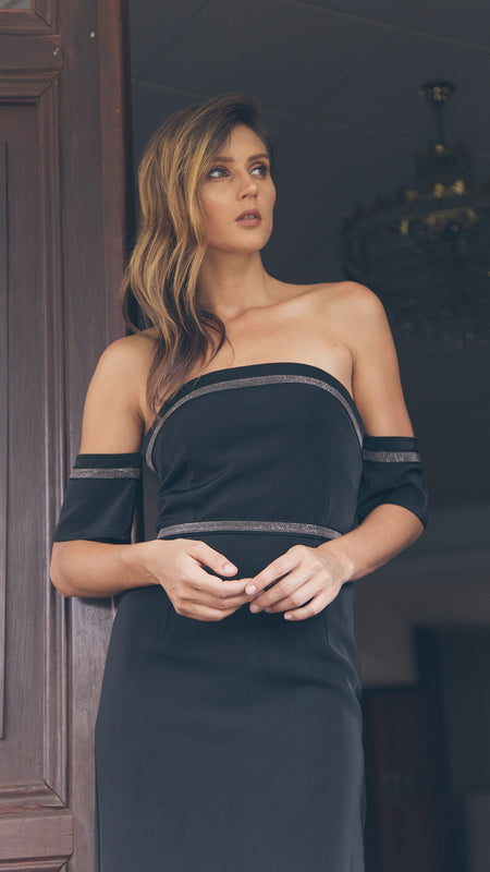 Off Shoulder Bodycon Dress outdoor