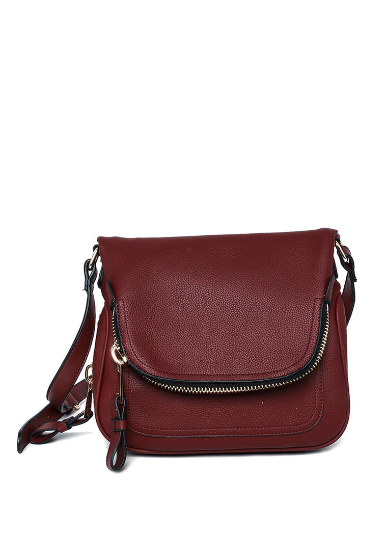 Andie Saddle Bag (Merlot)