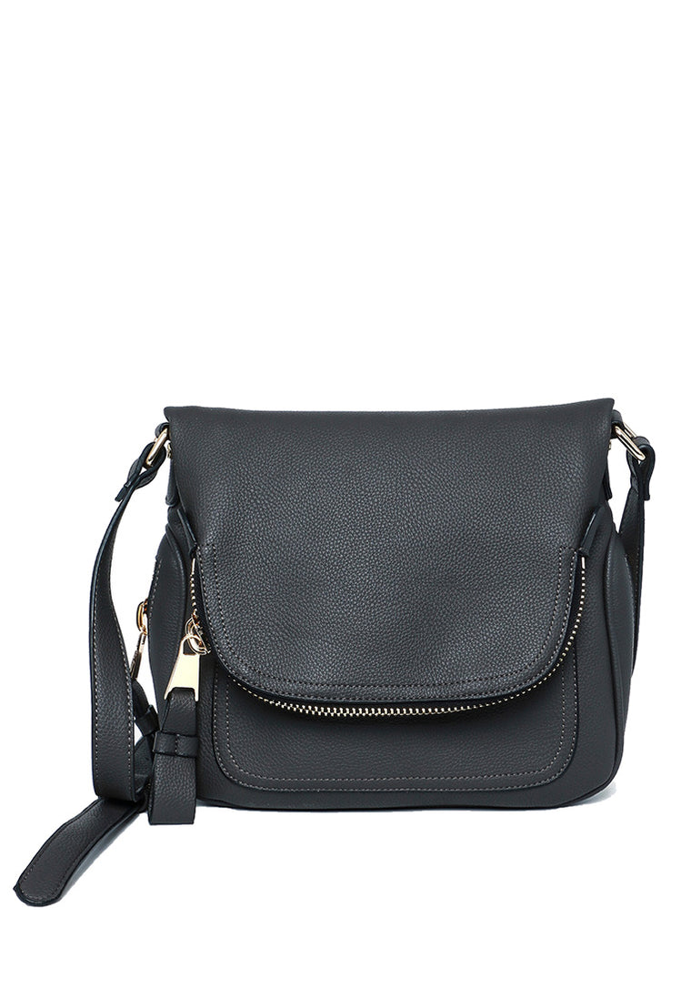 Andie Saddle Bag (Pebble Gray)