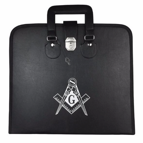 Masonic Regalia MM/WM Apron Case with Printed Square Compass & G