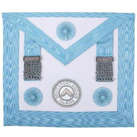 Master Masons Apron with Lodge Badge