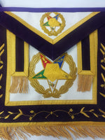 Order of the Eastern Star OES Grand Associate Patron Masonic Apron - Bricks Masons