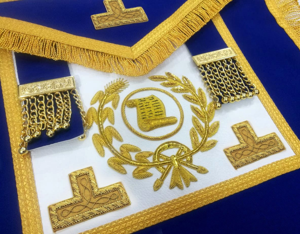Craft Grand Officers Orator Full Dress Apron - Bricks Masons