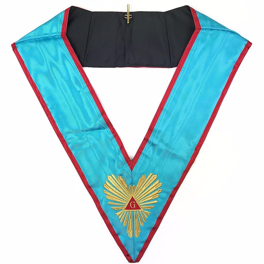 High Quality Masonic Memphis Misraim Officer's collar Machine Embroided - Bricks Masons