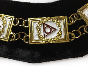 LOCOP Chain Collar - Gold/Silver on Black + Free Case - Bricks Masons