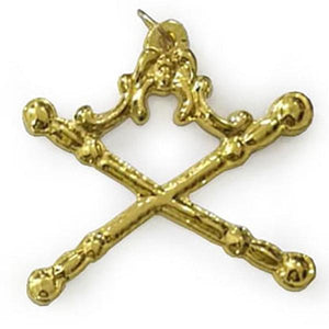Masonic Gold Regalia Collar Jewel - Marshal - Bricks Masons