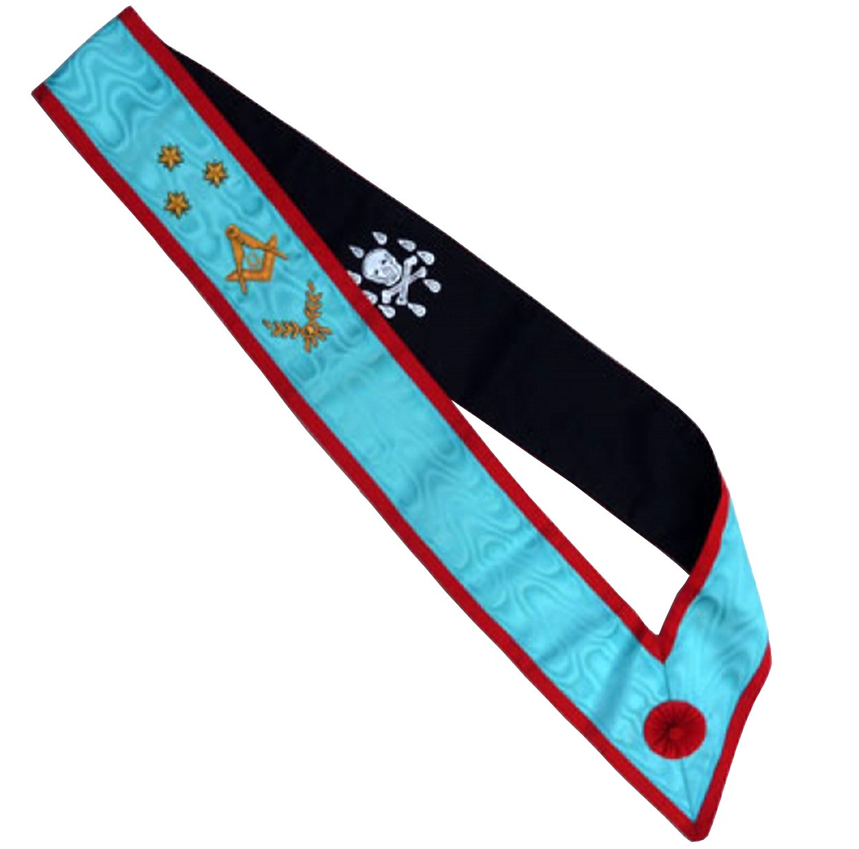 High Quality Scottish Rite AASR Master Sash 3 Stars acacia - Bricks Masons