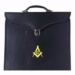 Masonic MM/WM and Provincial Full Dress Yellow Square Compass Cases II - Bricks Masons