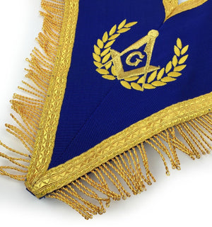 Blue Lodge Master Mason Apron with Fringe Set Apron,Collar gauntlets (Cuffs) - Bricks Masons