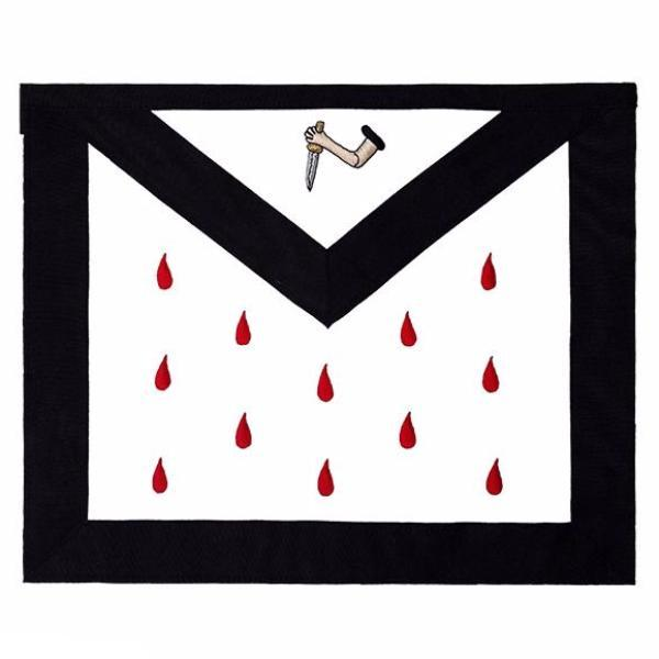 Scottish Rite 9th Degree Silk Apron - Bricks Masons
