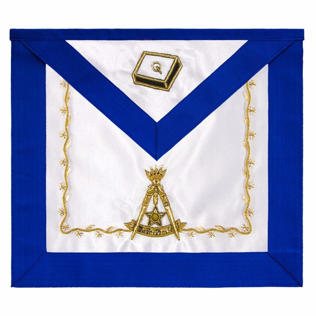 Scottish Rite 14th Degree Silk Apron - Bricks Masons