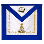 Scottish Rite 14th Degree Hand Embroidered Silk Apron - Bricks Masons