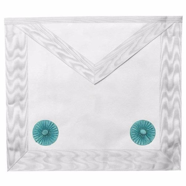 Masonic Blue lodge Fellow Craft Apron with Rosettes - Bricks Masons