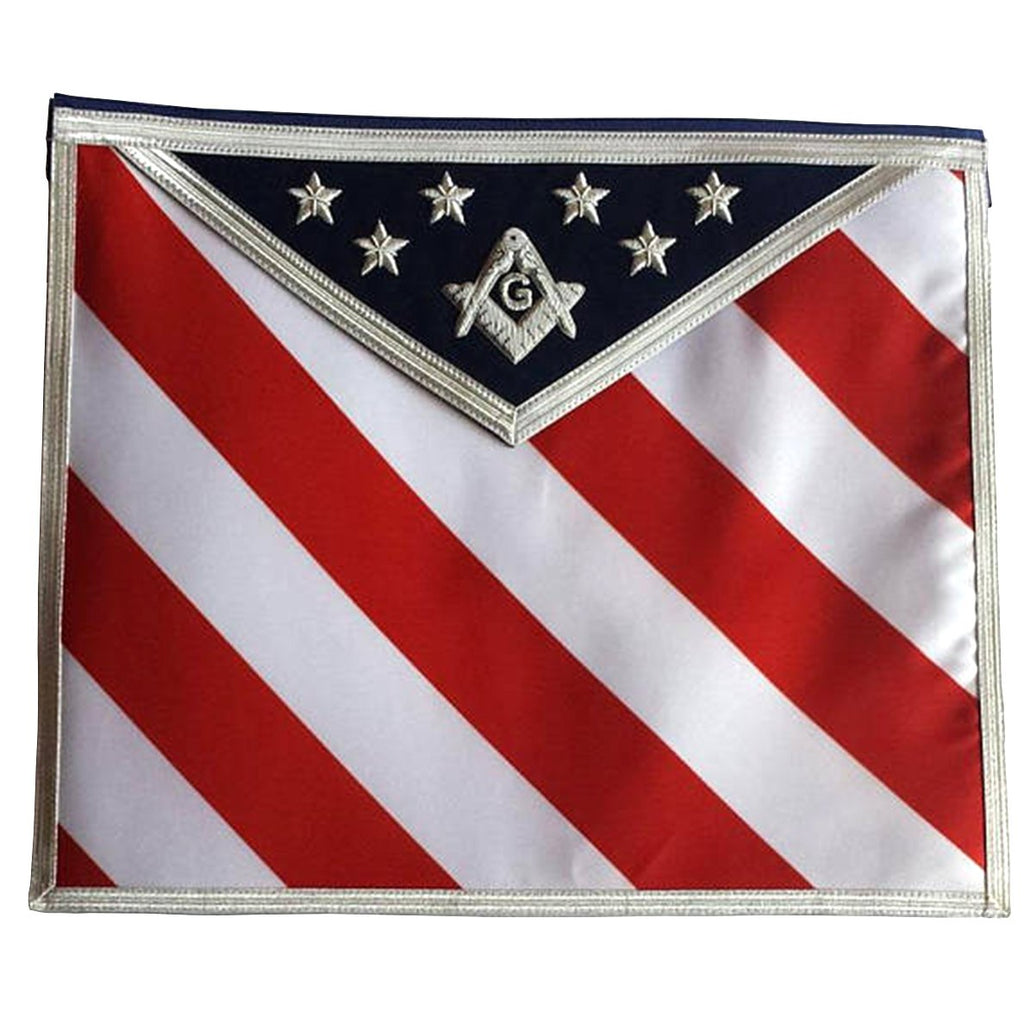 Masonic Regalia Hand Embroidered U.S Master Mason Apron with G logo - Bricks Masons