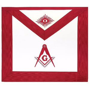 Masonic Blue Lodge Master Mason Apron Red - Bricks Masons