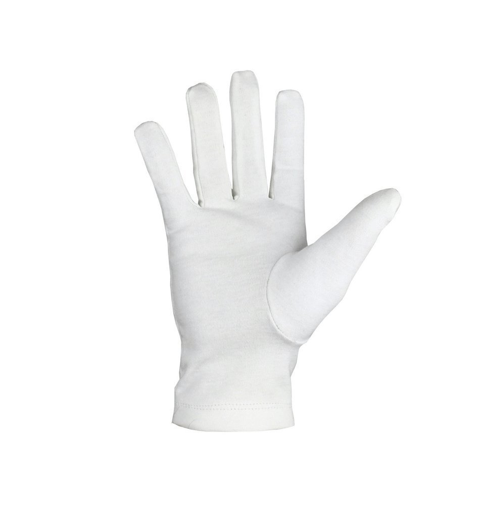 Masonic Crossed Trowels Machine Embroidery White Cotton Gloves - Bricks Masons