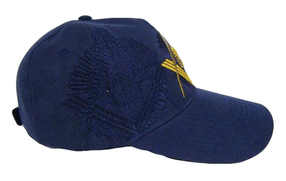 Embroidered Masonic Shadow Blue Baseball Cap - Bricks Masons