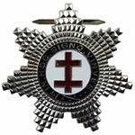 Masonic Knight Templar Preceptors Silver Plated Breast Star Jewel - Bricks Masons
