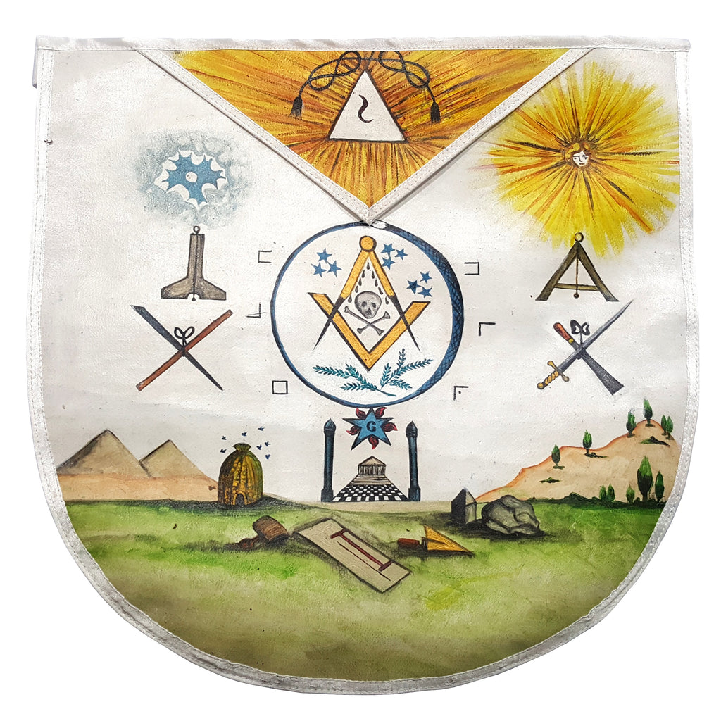 The Secret Teachings of All Ages, Manly P. Hall, 1928 | Hand-painted Apron