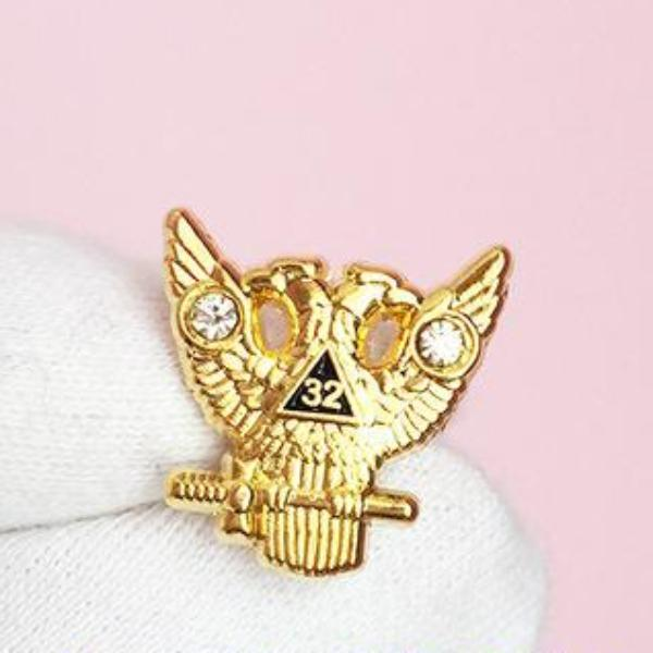 32 Degree Eagle Masonic Lapel Pin - Bricks Masons