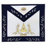 Masonic Grand Lodge Past Master Apron Gold Hand Embroidery Apron - Bricks Masons