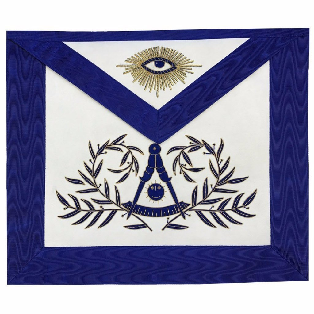 Masonic Past Master Apron Hand Embroided Apron