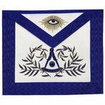 Masonic Past Master Apron Hand Embroided Apron - Bricks Masons