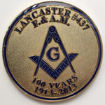 Lancaster F. AM 100 Years Car Emblem - Bricks Masons