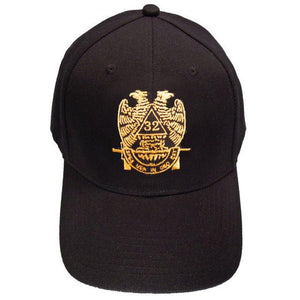 Scottish Rite Wings DOWN 32nd degree Masonic Baseball Cap