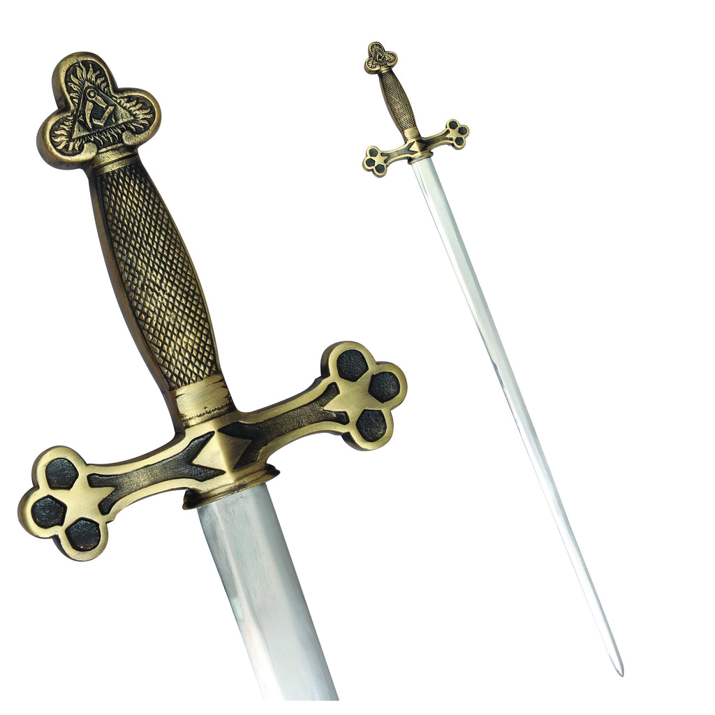 Masonic Ceremonial Sword Square Compass + Free Case