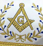 Masonic Blue Lodge Master Mason Gold Machine Embroidery Apron - Bricks Masons