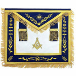 Masonic Blue Lodge G Master Mason Gold Machine Embroidery Apron - Bricks Masons